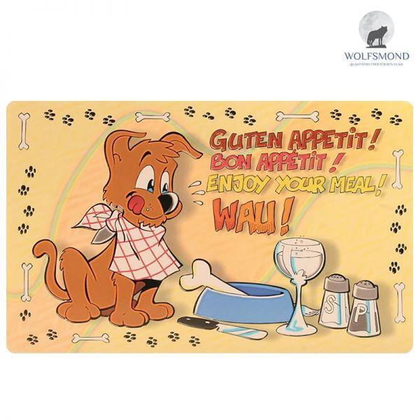 """Napfunterlage Comic Hund """"Guten Appetit"""""""
