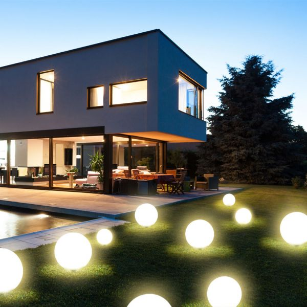 LED Solar Kugellampe